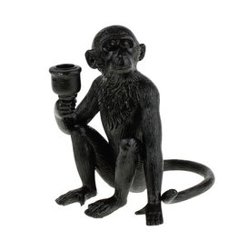 Black monkey candlestick