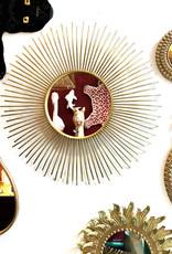 Goud druppelvormige spiegel