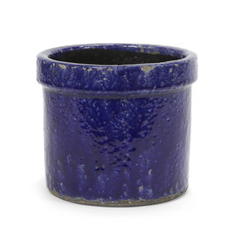 Blue ceramic planter / L