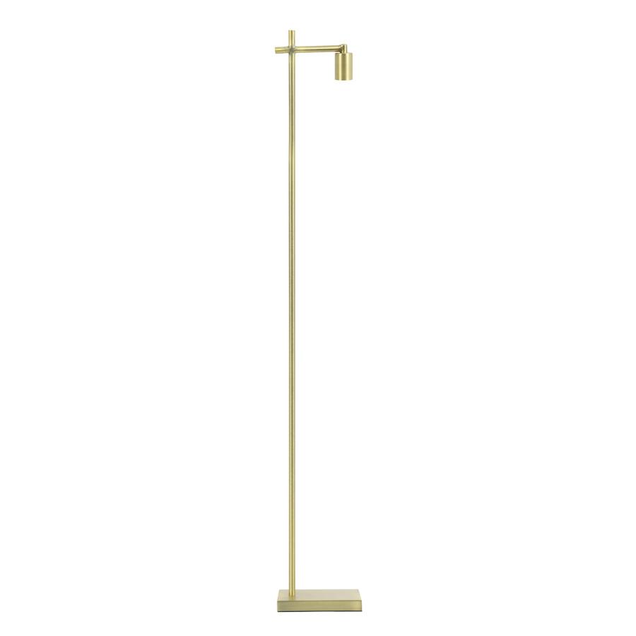 "Gold metal floor lamp ""Isan"""