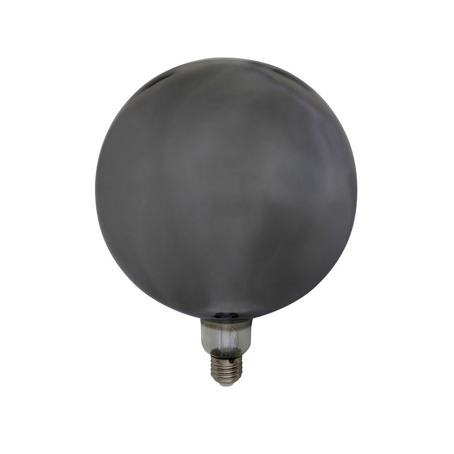 XL smoked glass led globe bulb