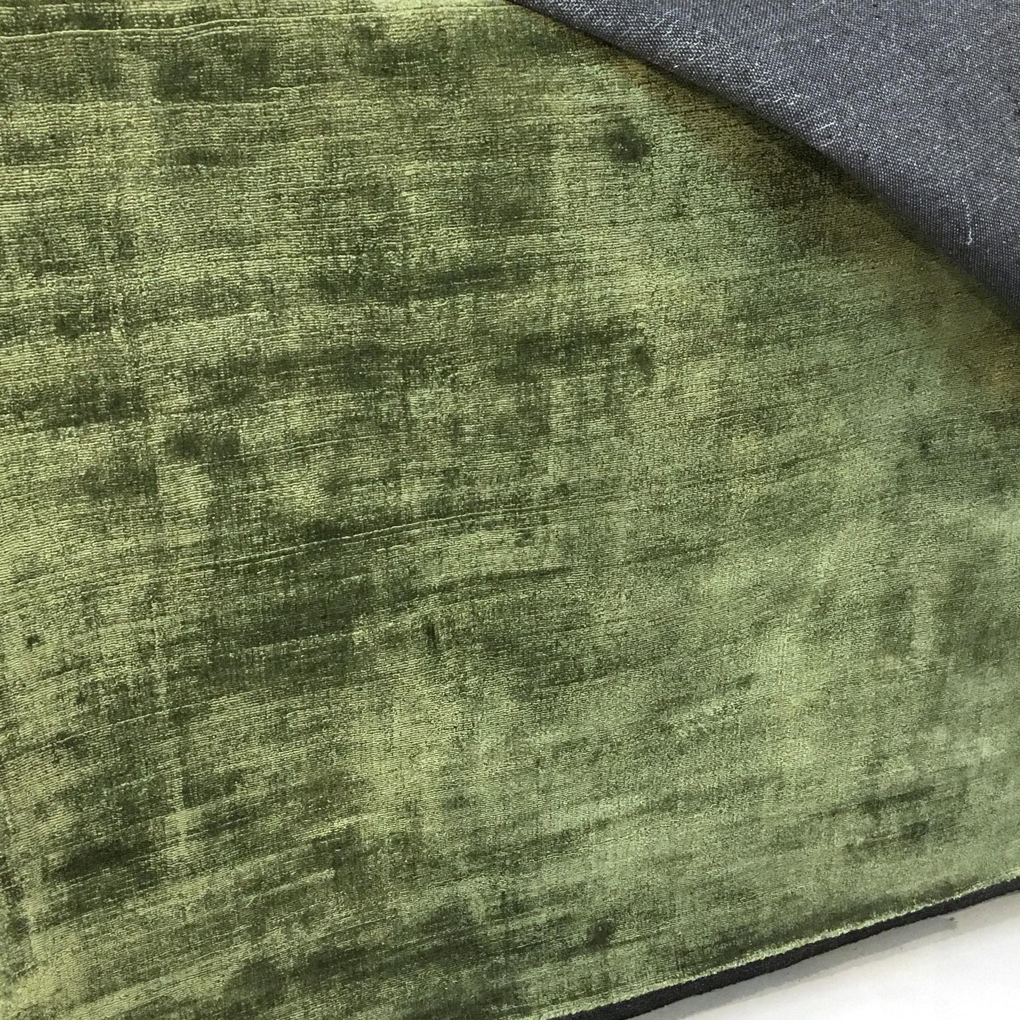 Groot groen luxe vloerkleed