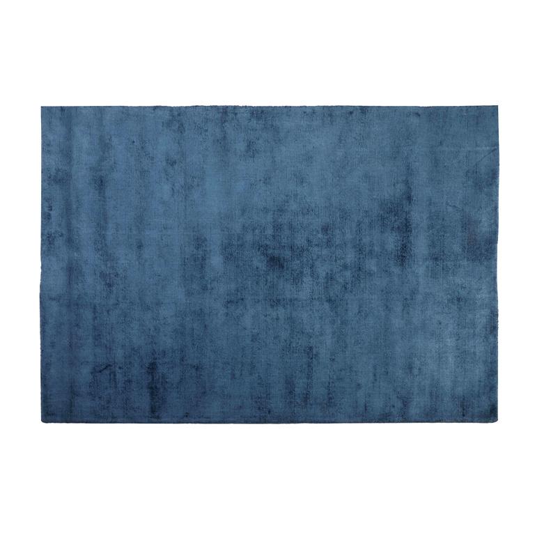 Groot blauw luxe vloerkleed