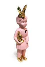 Roze mini popje van Lammers en Lammers