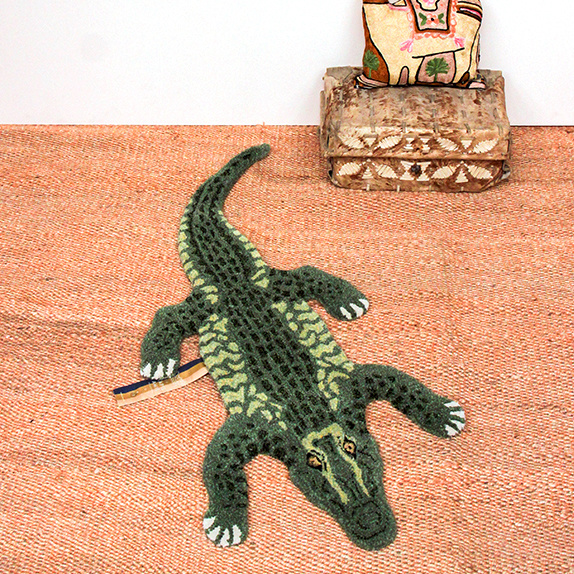 Crocodile rug from Doing Goods
