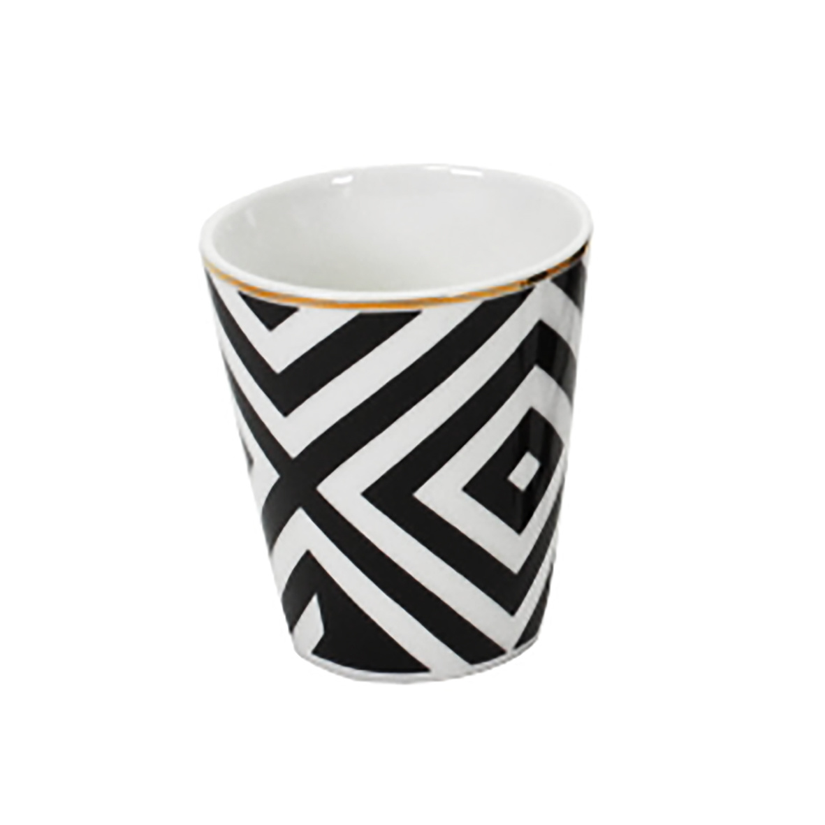Modern design espresso cup with black and white print