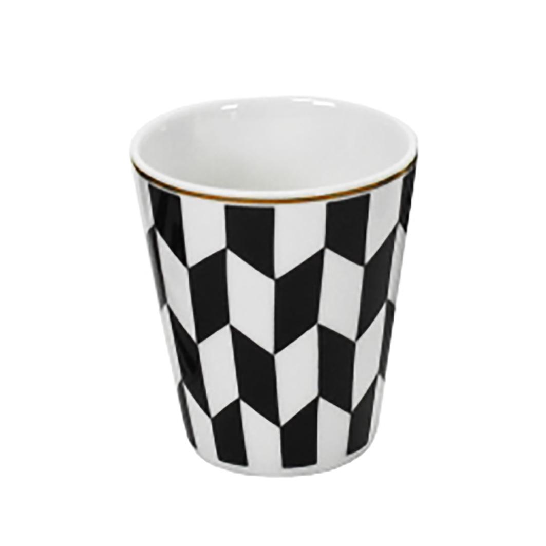 Design espressokopje met zwart wit print