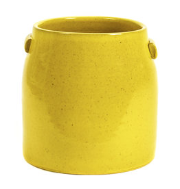 Gele bloempot / L