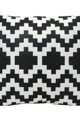 Buitenkussen met zwart-wit print