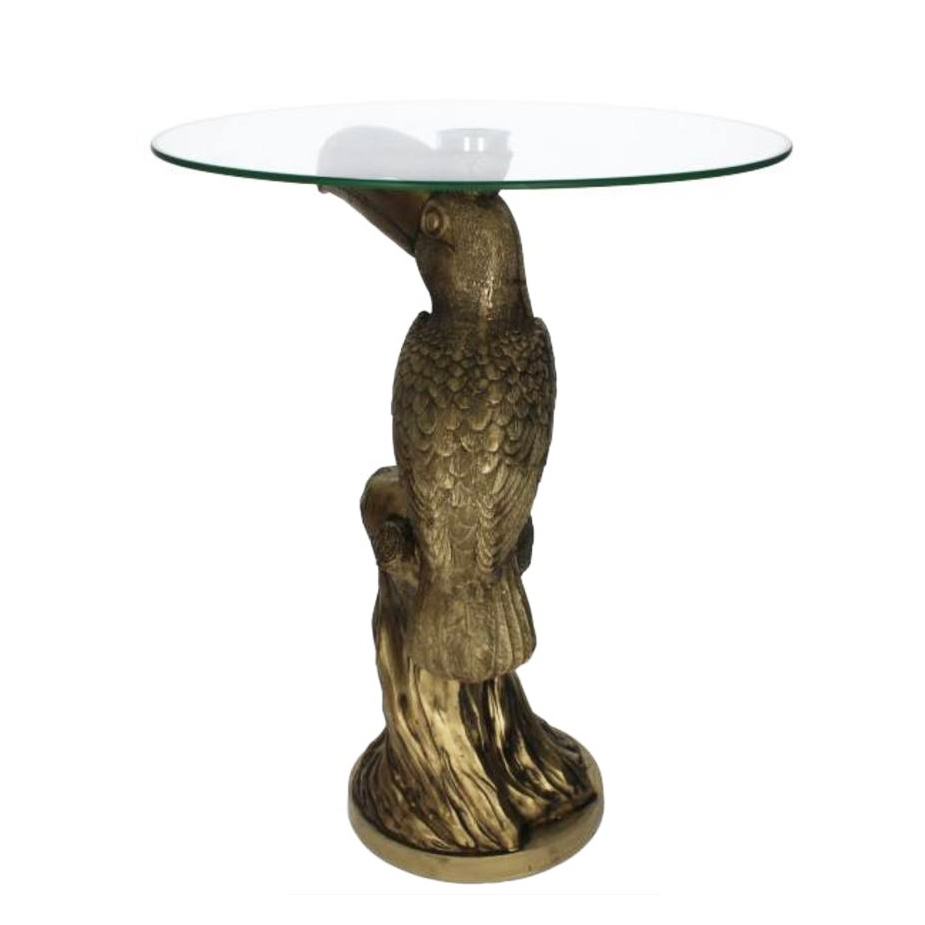 Gold toucan side table