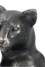 Zwarte tafellamp in de vorm van een luipaard