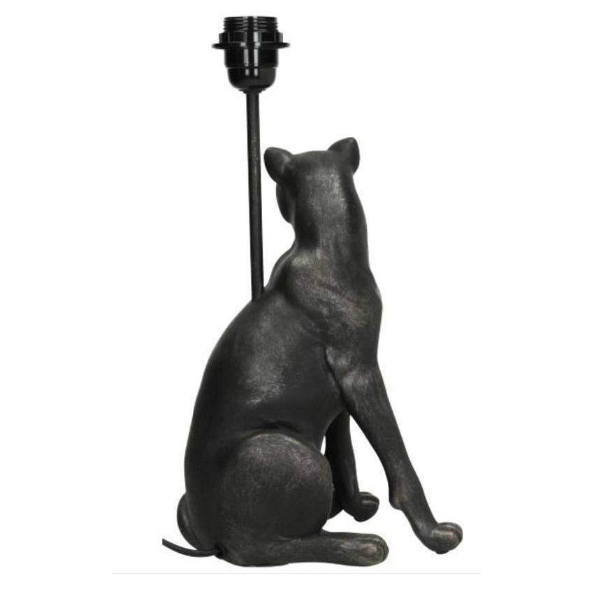 Black leopard table lamp
