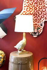 Gold duck table lamp