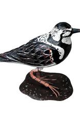 Houten vogel beeld van een plevier