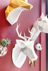 Papieren hert dierenhoofd om te knutselen