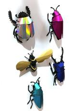 Gold paper scarab beetle assemble kit