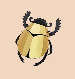 Papieren Kever / Scarabee / Goud