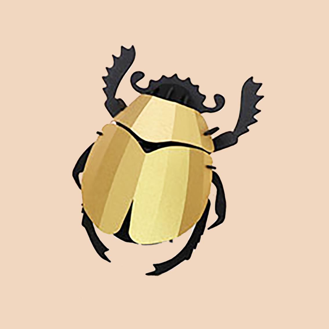 Scarabee kever van goud papier om te knutselen