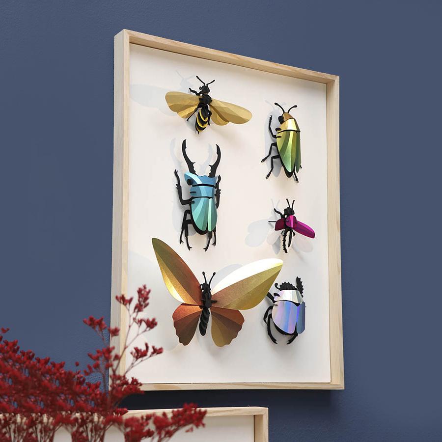 Red paper rosalia beetle assemble kit