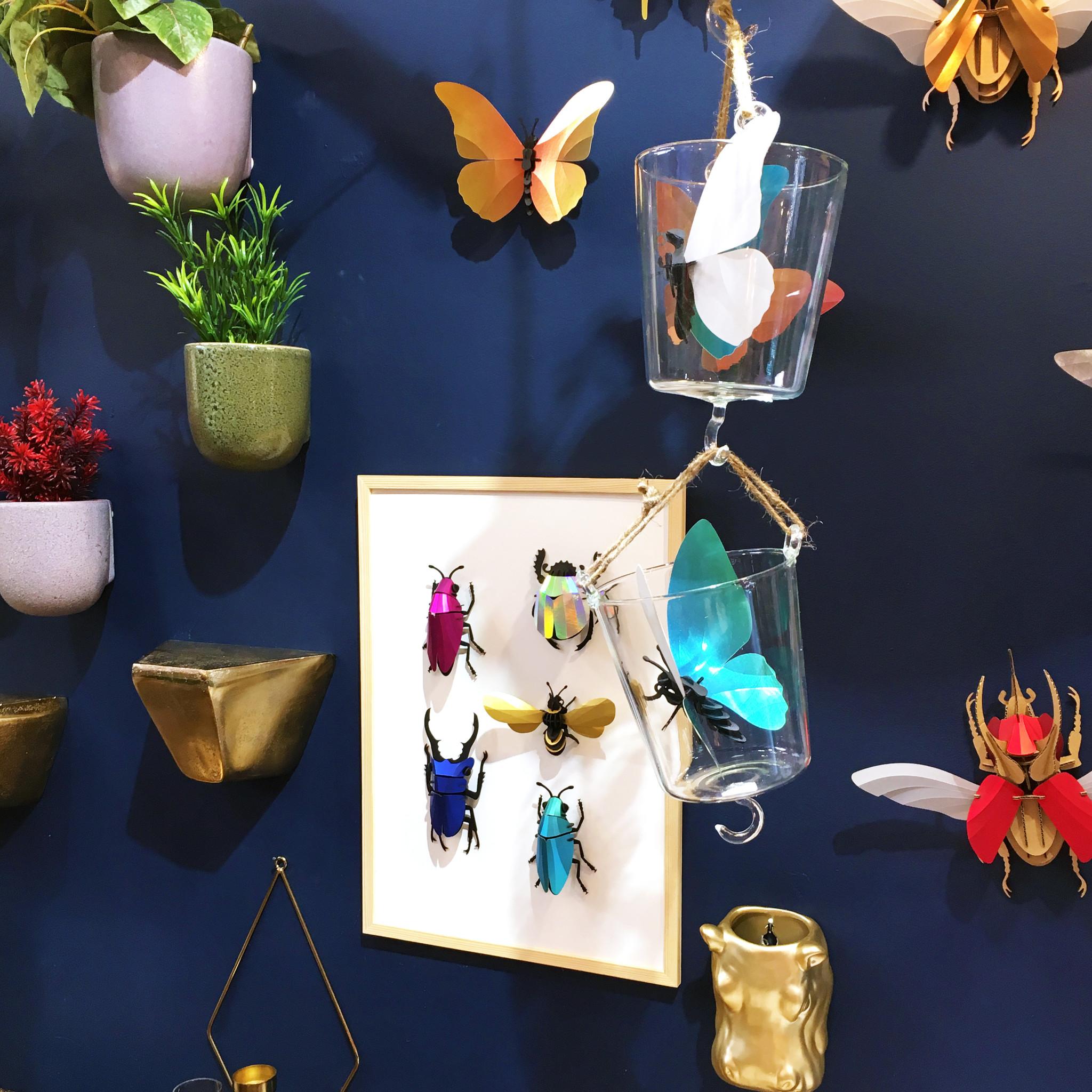 Silver rainbow paper rosalia beetle assemble kit