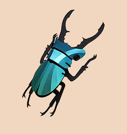 Paper Stag Beetle / Green
