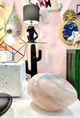 "Design tafellamp van roze glas ""Opal"""