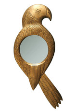 Gold parrot mirror