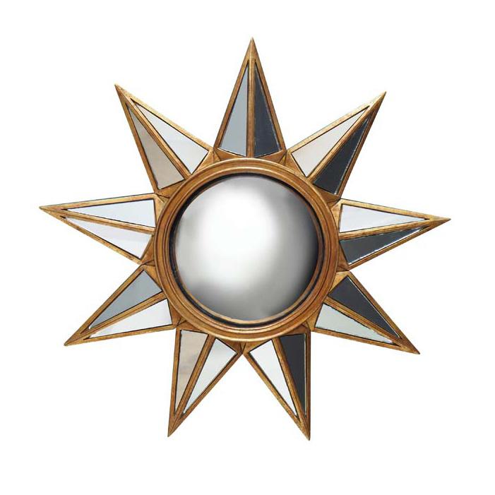 Gouden spiegel in de vorm van de zon
