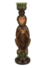 Brown monkey candlestick