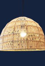 Design hanglamp gemaakt van raffia touw