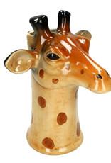 Ceramic giraffe vase