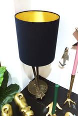 Tafellamp met vogelpoten en lampenkap