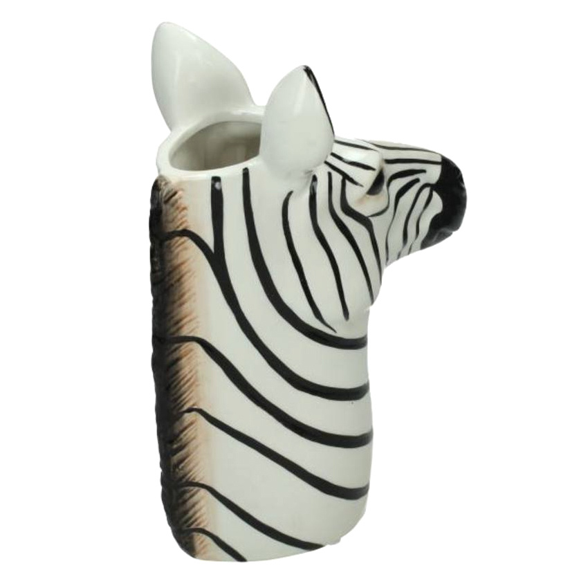 Vaas van keramiek in de vorm van een zebra