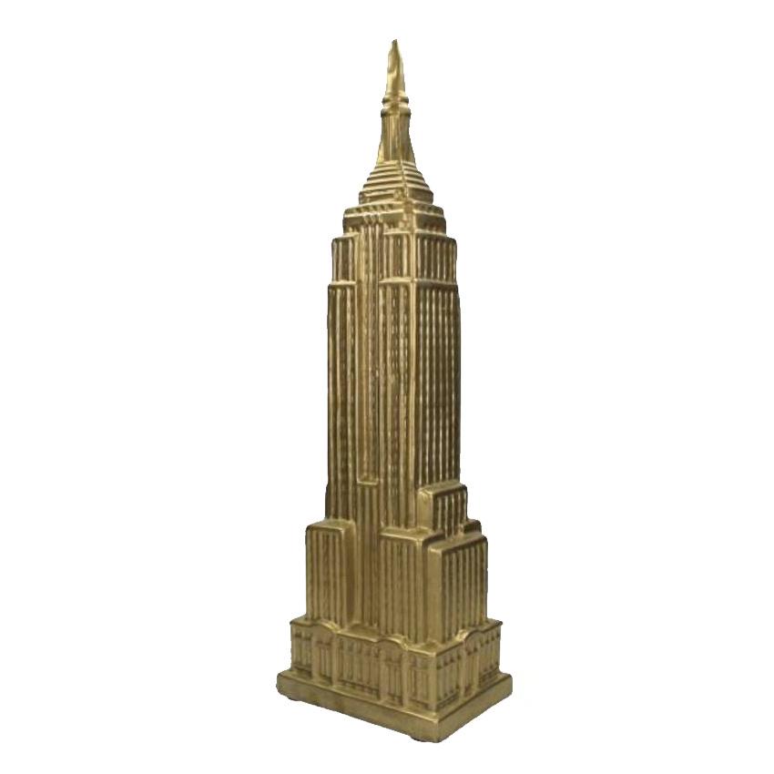 Empire State Building beeld van goud keramiek