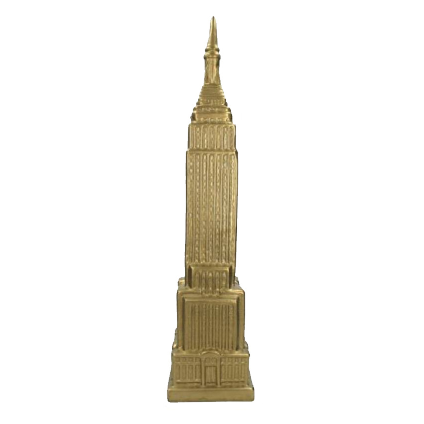 Gold ceramic Empire State Building figure
