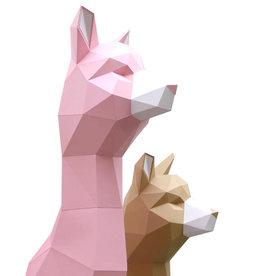 Papieren Alpaca / Roze