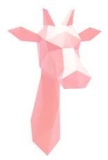 Roze giraffe van papier van Assembli