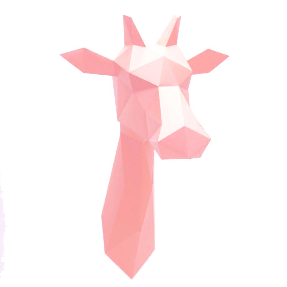 Pink paper giraffe trophy from Assembli