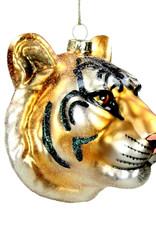Aparte kersthanger van glas in de vorm van een tijger