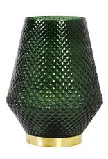 Soerloze retro design tafellamp van groen glas