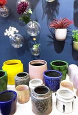 Green ceramic retro design planter