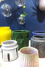 Bruine retro design bloempot van keramiek