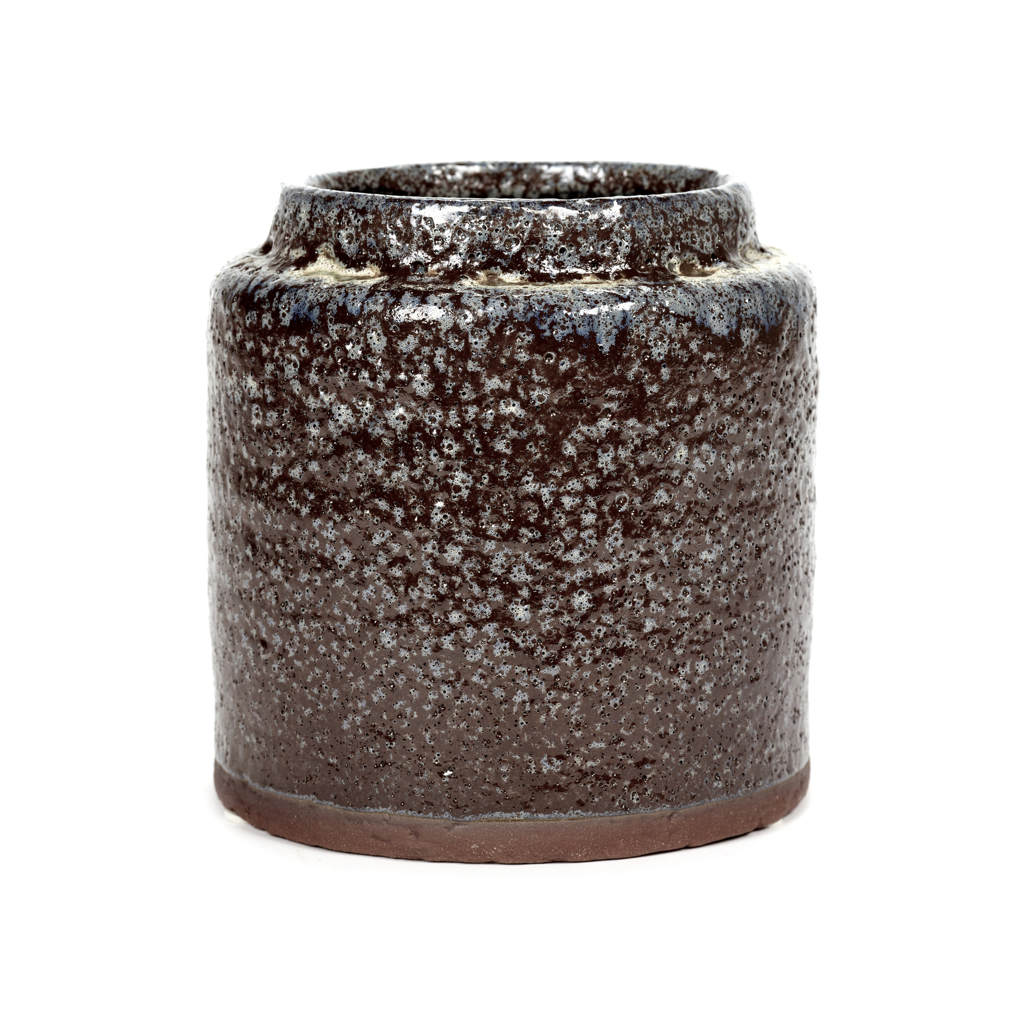 Brown ceramic retro design planter