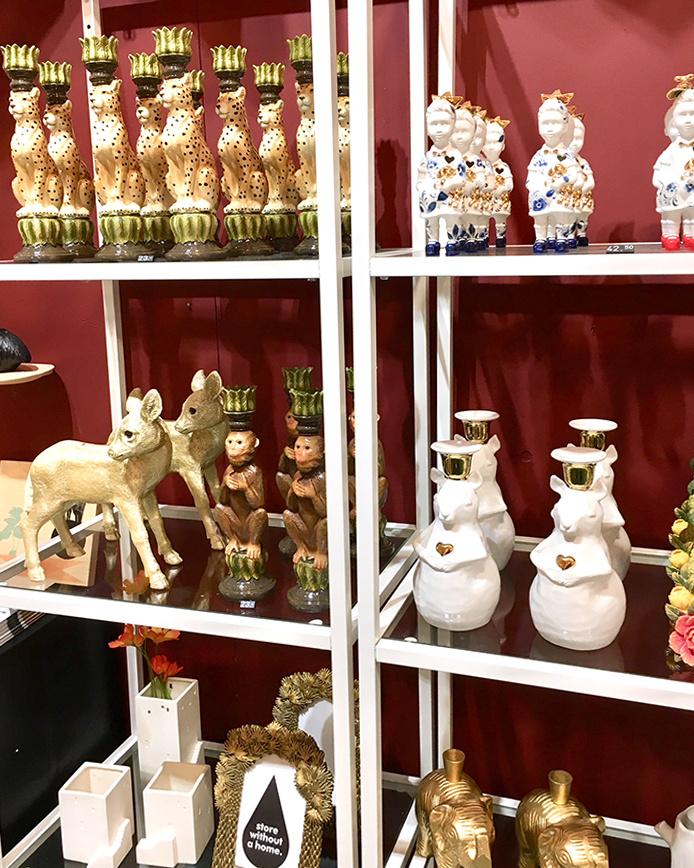 White ceramic squirrel candlestick