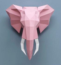 Papieren olifant  / Roze