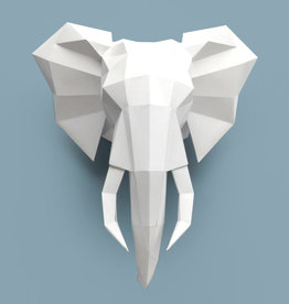 Paper elephant / White