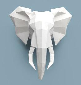 Papieren olifant  / Wit