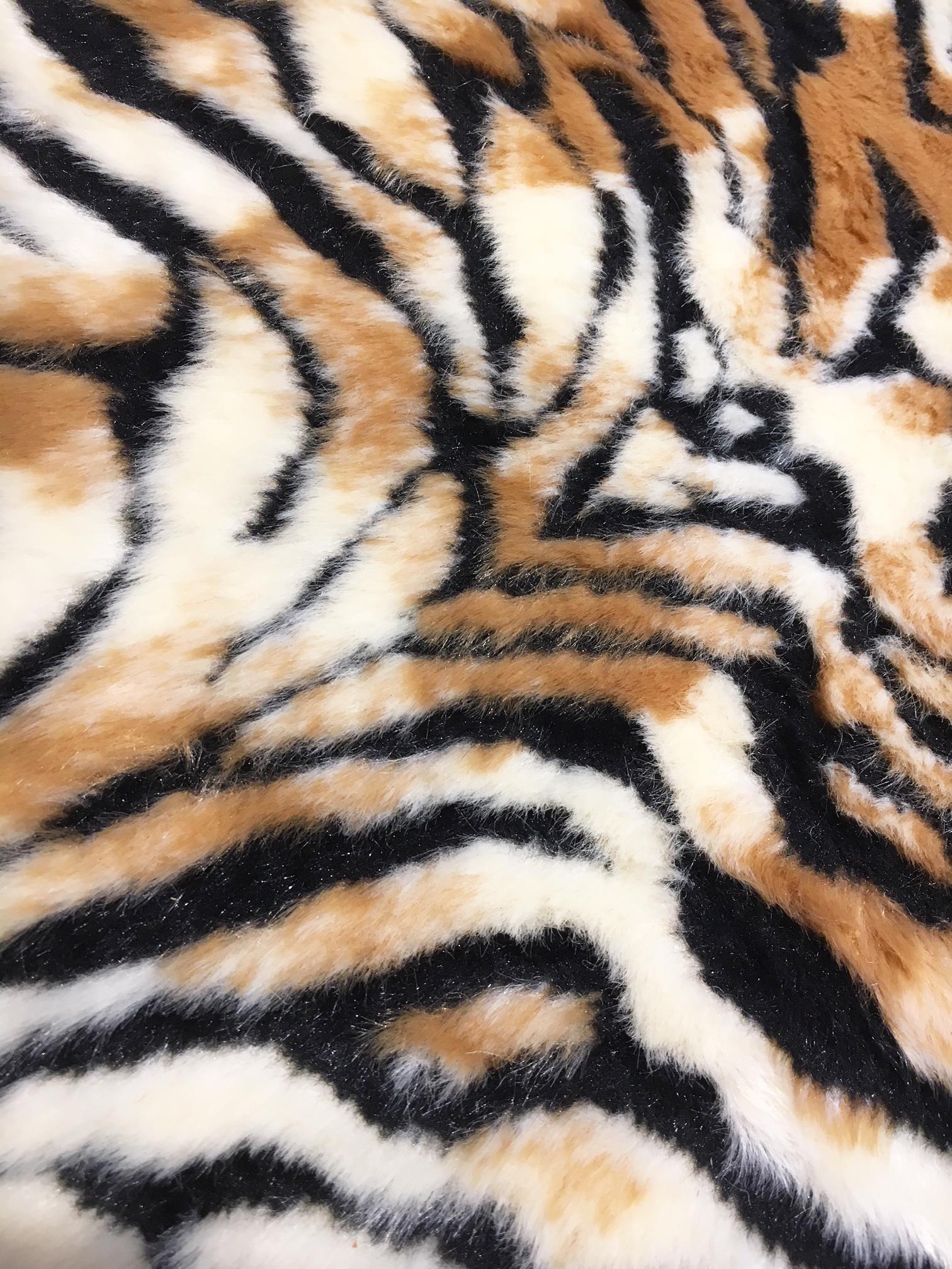 Faux tiger fur skin