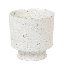 Matte white planter