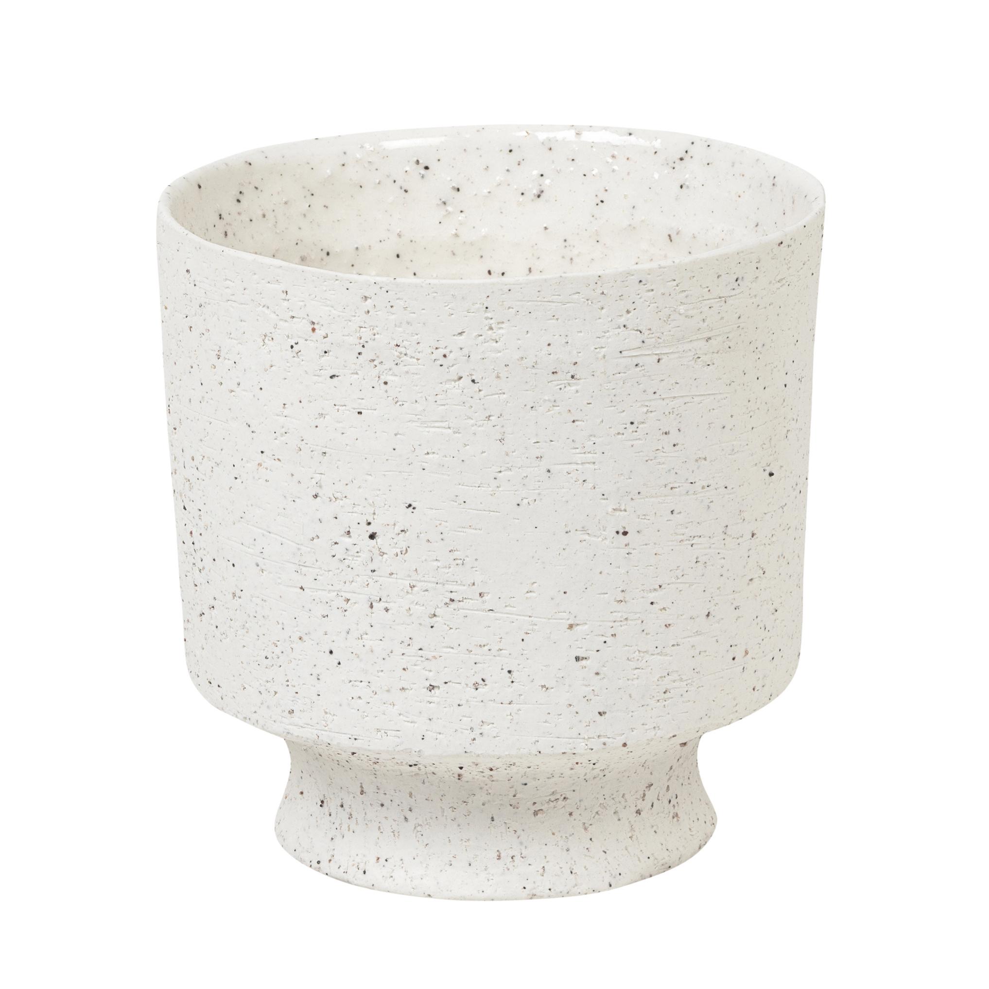 Danish design planter in matte white